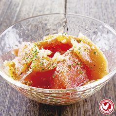 鶏生ハムとトマトのサラダ