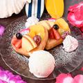 料理メニュー写真季節のフルーツパンケーキ (3枚)
