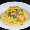 料理メニュー写真濃厚ウニクリームソースのスパゲッティーーニ