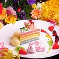 料理メニュー写真パステル レインボーケーキ