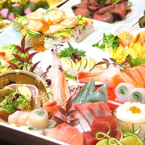 季節食材の魚食材が満載の各コースが大人気のひいきや!8つのフロアそれぞれで貸切可
