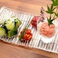 料理メニュー写真チャンジャ/梅くらげ/ゴボウチップ