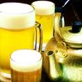 焼き鳥といえばビールやハイボール♪たくさん飲む方にはお得なやかんビールがおすすめ!
