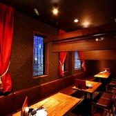 「CARIBBEANCAFE(カリビアンカフェ)守谷店」自慢の半個室仕様のテーブル席!最大25名様まで座れるので宴会や打ち上げには最適です!