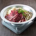 料理メニュー写真A5黒毛和牛のすき焼き鍋