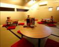【3F】畳張りでちゃぶ台のお席。最大20名様までご利用頂けます。16~20名様用。団体様はフロア丸々貸切可能です!