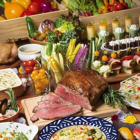 上質とバラエティ豊かな料理の数々を高級感のある落ちついた空間で♪
