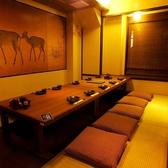 ゆったりとした掘りごたつタイプの個室は、接待やお食事会などに最適です。