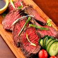 料理メニュー写真国産和牛使用ローストビーフ