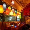■ご宴会向け16名様~20名様テラス席■ランプの暖かな灯りが心地よいテーブル席。