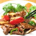 料理メニュー写真牛肉オイスターソース