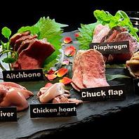 低温調理の肉刺し盛り合わせ