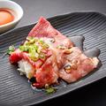 料理メニュー写真クラシタロースの大判炙り寿司