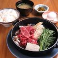 料理メニュー写真国産牛 すき焼き定食