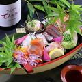 料理メニュー写真地魚の刺身船盛り