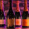 飲み放題以外にもシャンパン、スパークリングワイン等もご用意しております。別途ご料金のご注文になります。