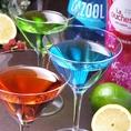 カクテルはブラヴューラ カクテルグラスでご提供致します。カクテルは全100種以上!お好きなお酒をお楽しみ下さい。