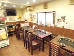 ゆったりと広いテーブルのお席。1席で4~5名様までお座り頂けます。テーブル3席で12~15名様の宴会できます。店内最大で36名様位まで入店可能です。