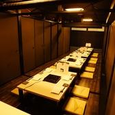 【個室宴会】20名様以上での宴会が可能な掘りごたつ席。28名様以上のご宴会等、人数ご相談下さい。