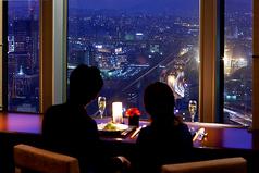 リーガロイヤルホテル小倉 29階 フレンチダイニング リーガトップの写真
