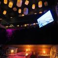 """Roomラプンツェル""は夜空をイメージしたヒーリング空間。記念日やデート、女子会にも人気の個室です。"