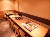 テーブル席×1※4名席、6名席、4名席に最大3組のお客様への対応が可能です。