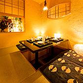 2名様からご案内可能な個室席♪癒し空間でごゆっくりとお愉しみ下さいませ。