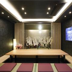 掘りごたつ式の完全個室