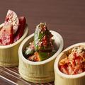 料理メニュー写真キムチの三種盛り合わせ