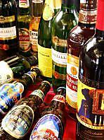 多国籍のお酒が豊富!
