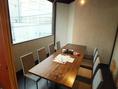 テーブル個室です。