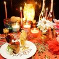 ★誕生日会、お祝い事にはシャンパンタワーで乾杯★当店自慢のこだわりの個室は誕生日などの華やかな宴にぴったりの空間です♪3時間宴会プランも豊富で時間に急かされることなくゆったりとお楽しみいただけます。人気のホールケーキ付プランもご用意しております♪