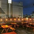 屋上は最大30名様まで!人気のビアガーデンはお早めにご予約下さい。