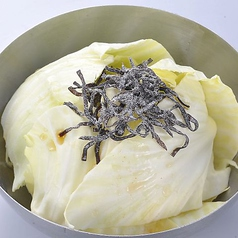 料理メニュー写真塩こんぶキャベツ・ざく切りキャベツ