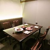 全席完全個室となっており、テーブル席は2名様からご利用頂けます♪個室空間ですので、デート・女子会・各種宴会と様々なシーンに対応可能!プライベート空間で、MARBLEでのディナータイムをお愉しみください。