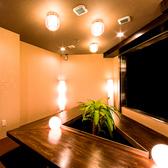 【15名~18名様個室】三角形のテーブルが印象的な個室席はお席から全体を見渡すことができるので団体様でのご宴会にも最適なお席となっております。新宿で居酒屋をお探しなら是非当店へ♪【新宿,個室,居酒屋,しゃぶしゃぶ,鍋,宴会,飲み放題,食べ放題】