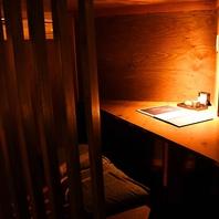 落ち着いた雰囲気の個室は2~60名様まで使用可能