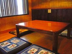お座敷席は4名様~5名様までご着席可能です!ご家族での来店にもぴったり☆