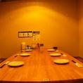 なぶらはテーブル半個室も充実!広々した空間なので、周囲をきせずにゆったりとご宴会が可能。