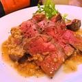 料理メニュー写真ハラミのライバル!アンガス牛のステーキ♪