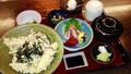 料理メニュー写真天丼御膳(天丼・赤出汁・茶碗蒸し・小鉢二ヶ・漬物・アイス 付)