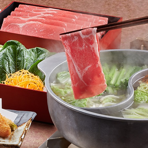 和食のごちそう食べ放題「ご馳しゃぶ」厳撰豚コース 120分 3619円(税込)