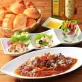 料理メニュー写真選べるスパゲッティと前菜3種セット