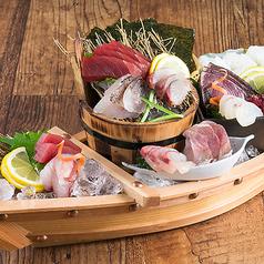 《かっこの豪快 舟盛り》鮮魚七種盛り