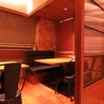 10名様個室。人数が多くても10名様で利用できる個室をご用意しております。各種宴会など集まりに向いています。