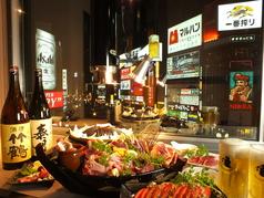 夜空のジンギスカン すすきの店 交差点前の雰囲気1