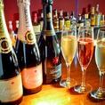 恋にはシャンパンも多数ご用意♪ランソンのシャンパンがグラス2000円~/ボトル12000円~ご用意♪記念日など、とっておきの日に是非ご利用ください♪