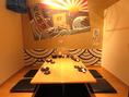 4名様までOK!仲間内の飲み会は明るい雰囲気の半個室のお席がオススメ!