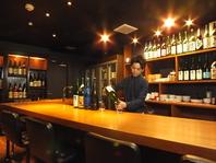 こだわりの日本酒がずらりと並んだお洒落な店内