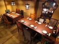 お座敷テーブルの半個室もあり。最大20名様まで対応!